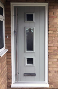 New front door installation in April