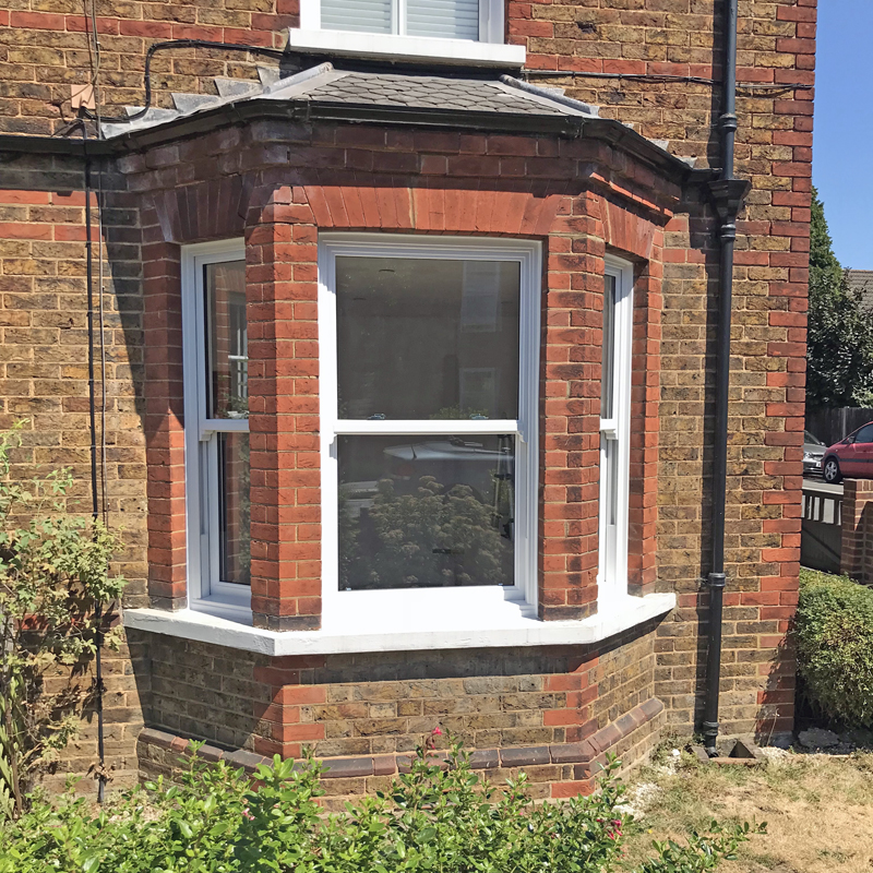 Completed sliding sash window installation in Epsom